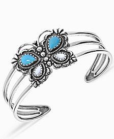 American West Butterfly Cuff Bracelet in Sterling Silver