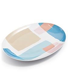 The Cellar Torn Paper Oval Platter