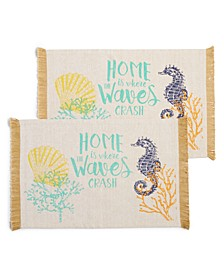 Sea Breeze Coastal Placemats, Set of 2