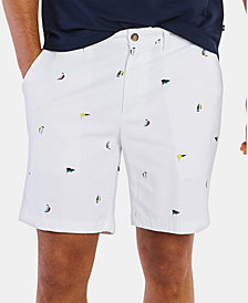"""Nautica Men's Sailboat Flag 8 1/2"""" Shorts"""