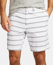 "Nautica Men's Blue Sail Striped 8 1/2"" Shorts, Created for Macy's"