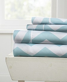 The Boho & Beyond Premium Ultra Soft Pattern 4 Piece Bed Sheet Set by Home Collection - King