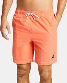 "Nautica Men's Big & Tall 8"" Solid Swim Trunks"