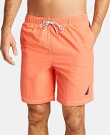 """Nautica Men's Big & Tall 8"""" Solid Swim Trunks"""