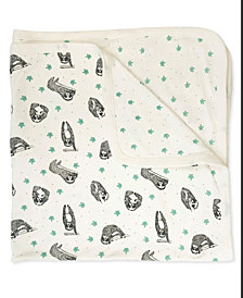 finn + emma 100% Organic Sloth Print Reversible Blanket