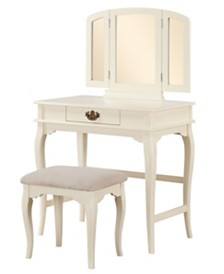Brinley Vanity Set with Bench and Mirror