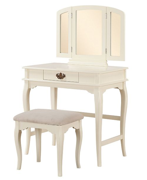 Linon Jackson Vanity Set With Mirror Reviews: Linon Home Décor Brinley Vanity Set With Bench And Mirror