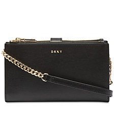 DKNY Bryant Leather Wallet Crossbody, Created for Macy's
