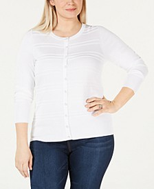 Plus Size Textured Cardigan, Created for Macy's