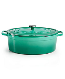 Martha Stewart Collection Enameled Cast Iron Ombré Oval 8-Qt. Dutch Oven, Created for Macy's