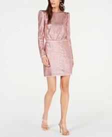 Rachel Zoe Cadence Sequined Mini Dress