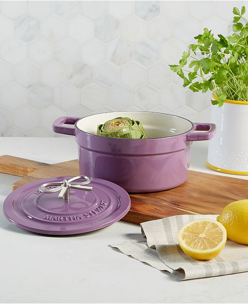 Martha Stewart Collection Enameled Cast Iron 2-Qt. Dutch Oven, Created for Macy's