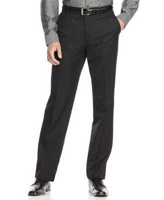 Calvin Klein Men's Pants,Slim Fit Dress Pants - Suits & Suit ...