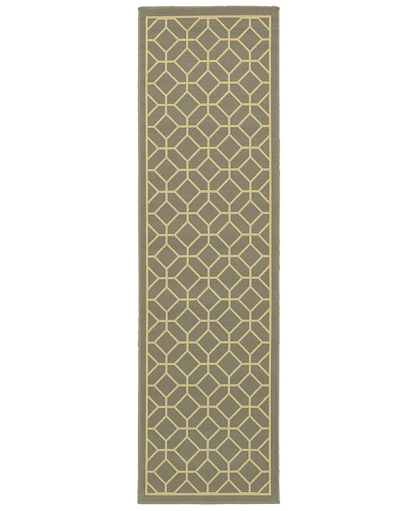 "Oriental Weavers Riviera 4771 2'3"" x 7'6"" Indoor/Outdoor Runner Area Rug"