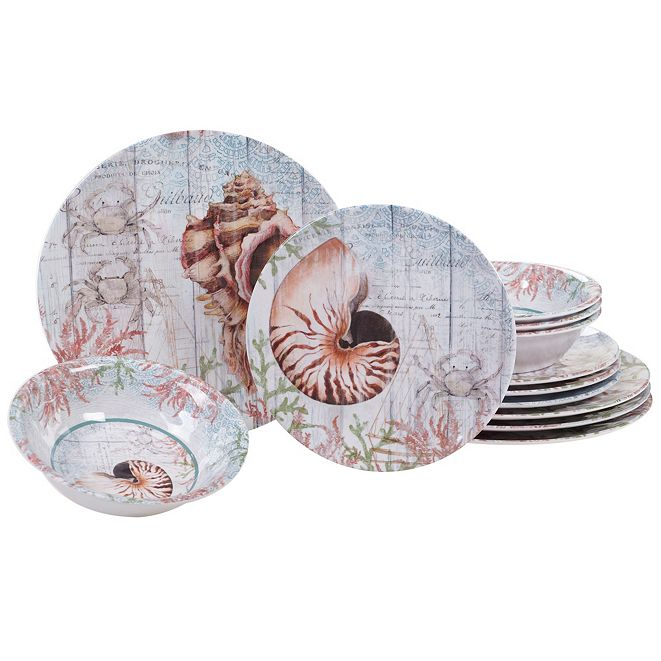 Certified International Sanibel Melamine 12 Piece Dinnerware Set