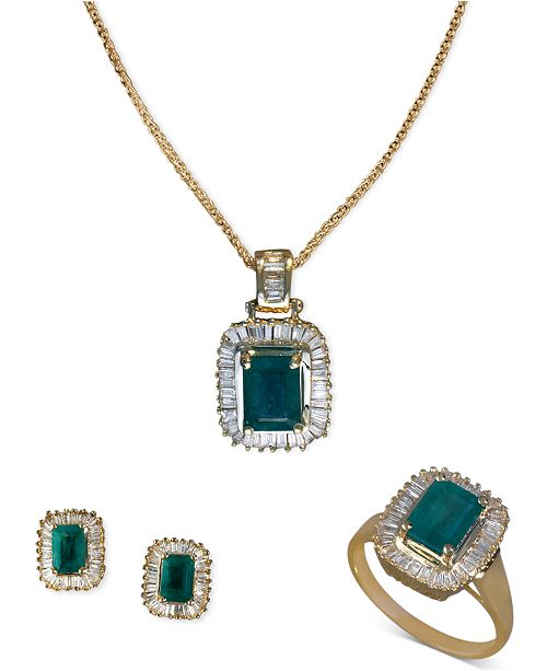 4e34add4795 EFFY Collection EFFY Jewelry Emerald and Diamond Jewelry Ensemble in 14k  Gold