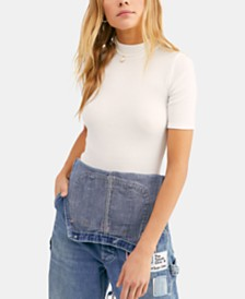 Free People Good Vibes Ribbed T-Shirt