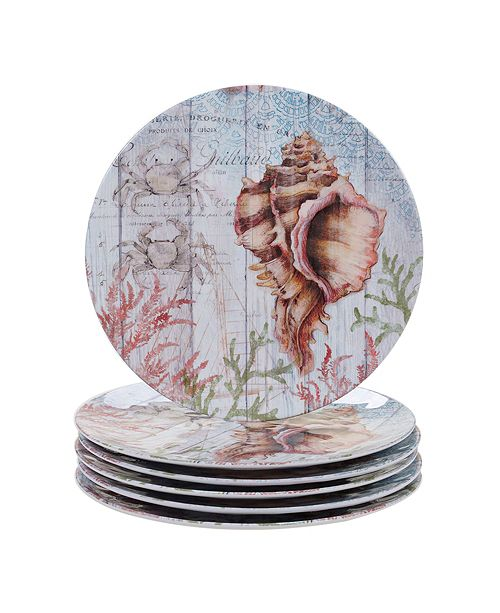 Certified International Sanibel Melamine 6 Piece Dinner Plate