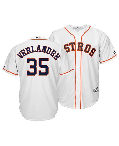 reputable site 38b85 a3033 Men's Justin Verlander Houston Astros Player Replica Cool Base Jersey