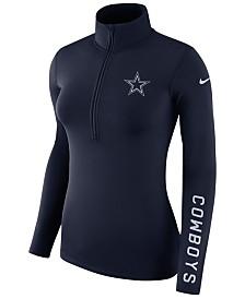 Nike Women's Dallas Cowboys Pro Half-Zip Element Pullover