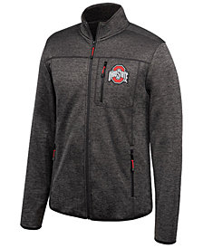 Authentic NCAA Apparel Men's Ohio State Buckeyes Heathered Flint Rock Full-Zip Jacket