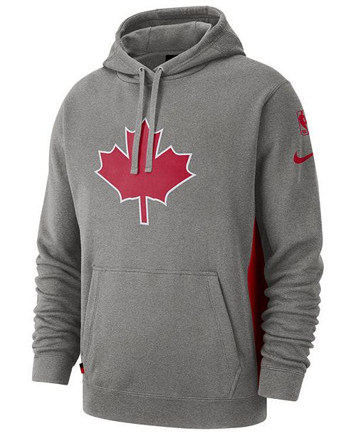 quite nice 393a4 1b28d Nike Men's Toronto Raptors Earned Edition Courtside Hoodie ...