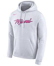 Nike Men's Miami Heat Earned Edition Logo Essential Hoodie
