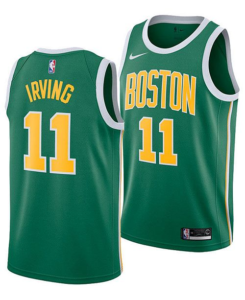 the latest 71836 e736e Men's Kyrie Irving Boston Celtics Earned Edition Swingman Jersey