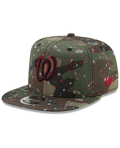 sports shoes fbed5 b8663 ... New Era Washington Nationals Camo Spec 9FIFTY Snapback Cap ...