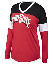 Authentic NCAA Apparel Women's Ohio State Buckeyes Champion Cheer T-Shirt