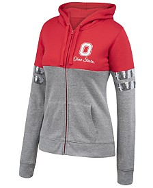 Authentic NCAA Apparel Women's Ohio State Buckeyes Handspring Full-Zip Hooded Sweatshirt