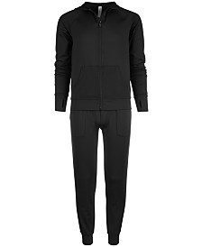 Ideology Big Girls Mesh-Pocket Hooded Jacket & Knit Jogger Pants, Created for Macy's
