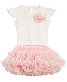 First Impressions Baby Girls 2-Pc. Sweater Top & Ruffled Skirt Set, Created for Macy's