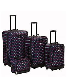 Fleur De Lis 4PCE Softside Luggage Set