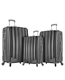 Rockland Barcelona 3PC Hardside Luggage Set