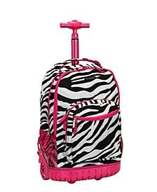 "Zebra 19"" Rolling Backpack"