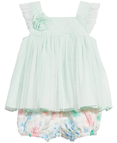 First Impressions Baby Girls 2-Pc. Tunic & Rosette Bloomers Set, Created for Macy's
