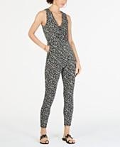 dcc89f19e203 MICHAEL Michael Kors Printed Twist-Waist Jumpsuit