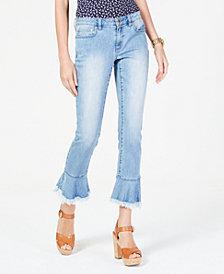 MICHAEL Michael Kors Cropped Flounce-Hem Jeans