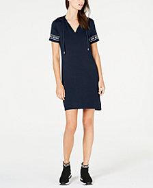MICHAEL Michael Kors MKGO Logo-Sleeve Hoodie Dress