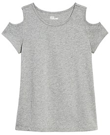 Epic Threads Big Girls Cold-Shoulder T-Shirt, Created for Macy's