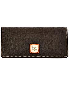 Dooney & Bourke Pebble Leather Slim Wallet