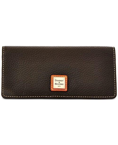 746373151e Dooney & Bourke Pebble Leather Slim Wallet & Reviews - Handbags ...
