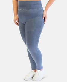 Nanette Lepore Play Plus Size Seamless Active Leggings, Created for Macy's