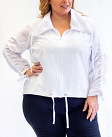 Nanette Lepore Play Plus Size Windbreaker, Created for Macy's