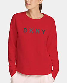 DKNY Sport Sparkle Logo Fleece Sweatshirt
