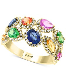 EFFY® Multi-Sapphire (2 ct. t.w.) and Diamond (3/8 ct. t.w.) Ring in 14k Gold