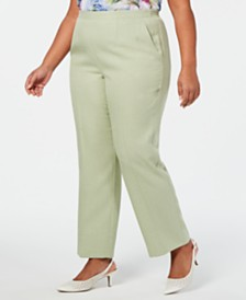 Alfred Dunner Plus Size Southampton Pull-On Proportioned Pants
