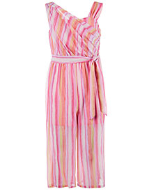 Sequin Hearts Big Girls Striped Jumpsuit