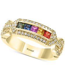 EFFY® Multi-Sapphire (1/2 ct. t.w.) and Diamond (5/8 ct. t.w.) Ring in 14k Gold